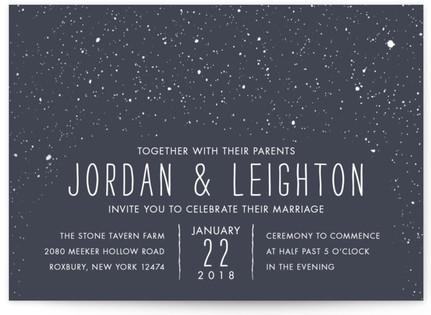 Snowy Soiree Wedding Invitations