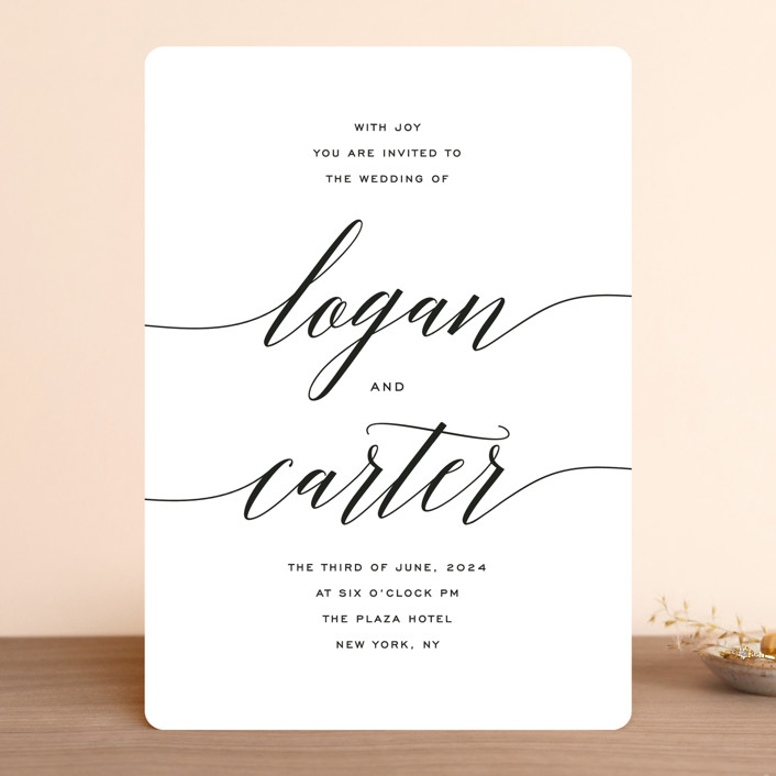 """""""Someone Like You"""" - Wedding Invitations in Tuxedo by Design Lotus."""