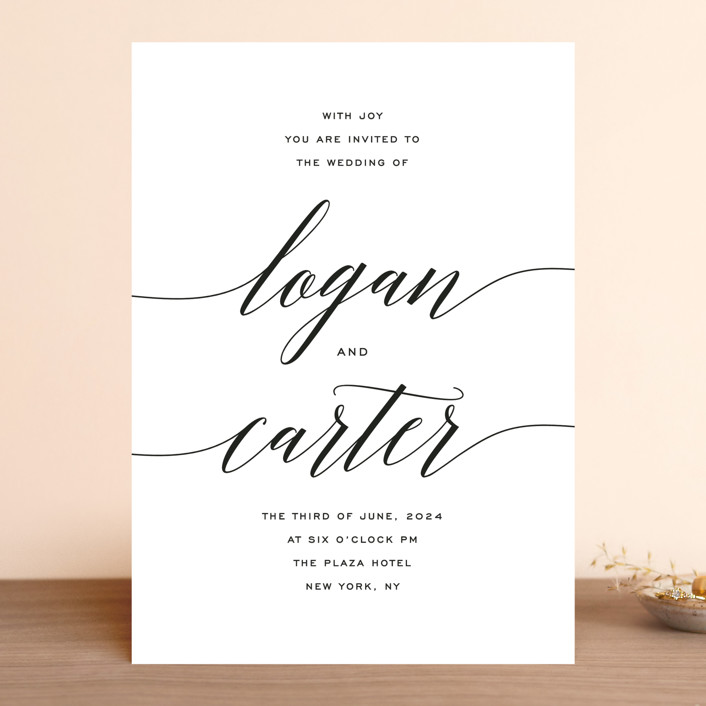 Someone like you wedding invitations by design lotus minted someone like you wedding invitations in tuxedo by design lotus stopboris Choice Image