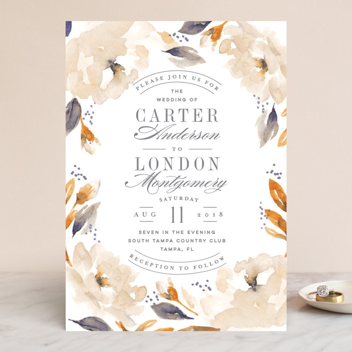 """""""Southern Garden"""" - Wedding Invitations in Moss by Lori Wemple."""