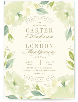 Southern Garden Wedding Invitations