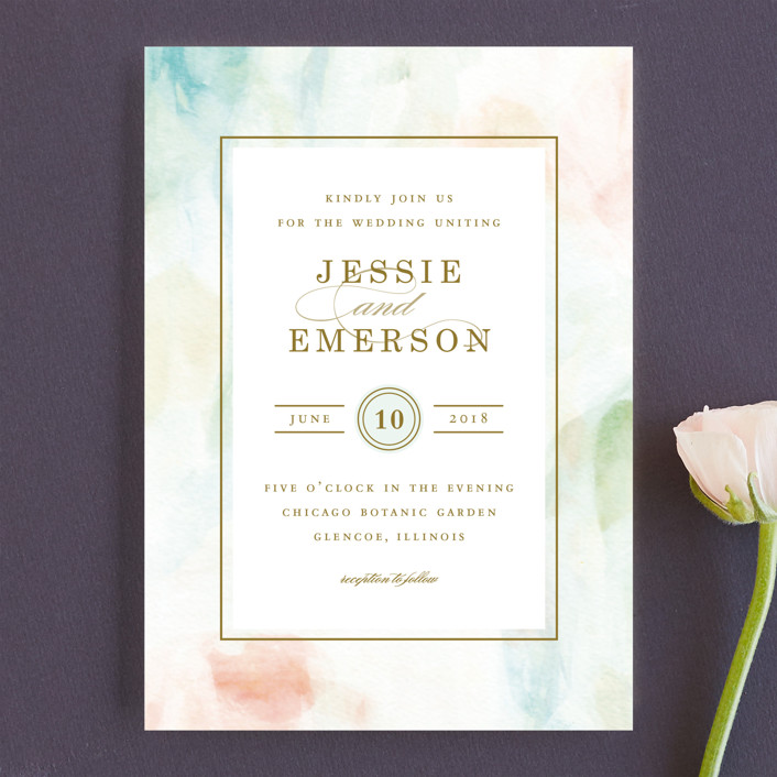"""Sway"" - Wedding Invitations in Mint by Angela Marzuki."