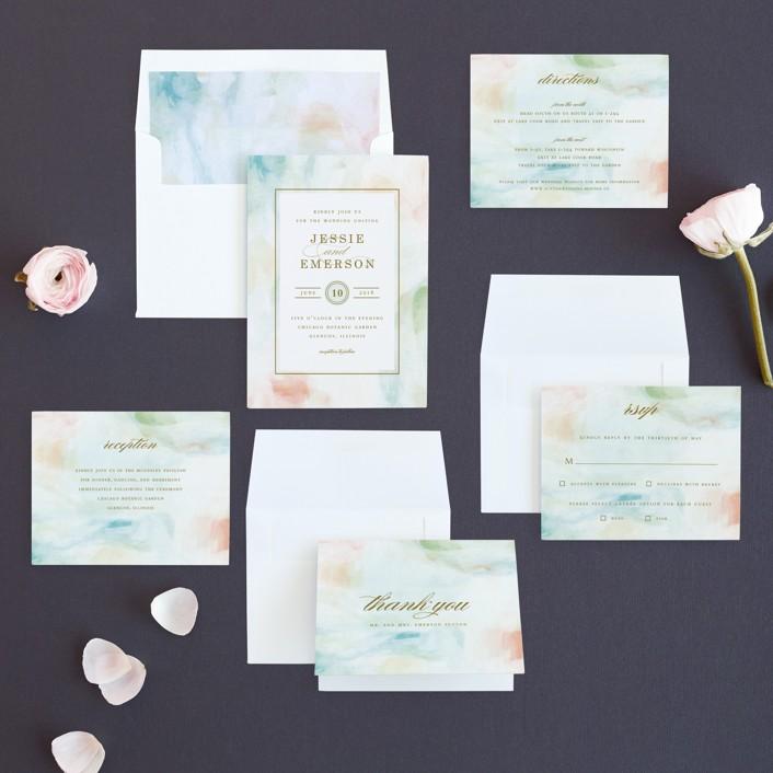 Sway wedding invitations by angela marzuki minted invitation suite stopboris Gallery