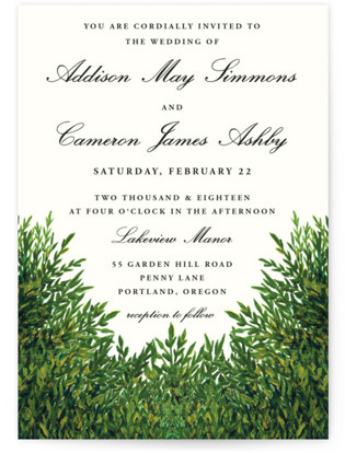 The Garden Wedding Invitations