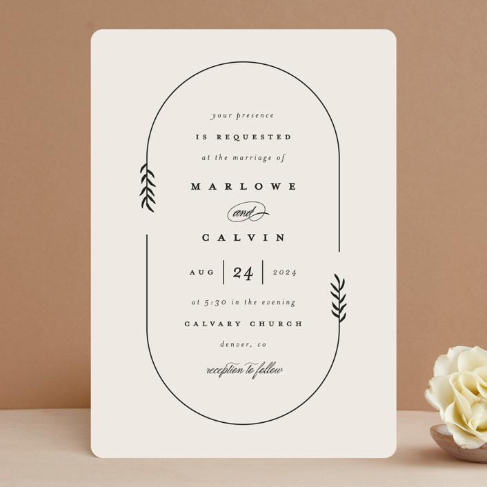 """""""surround"""" - Wedding Invitations in Ivory by Brianne Larsen."""