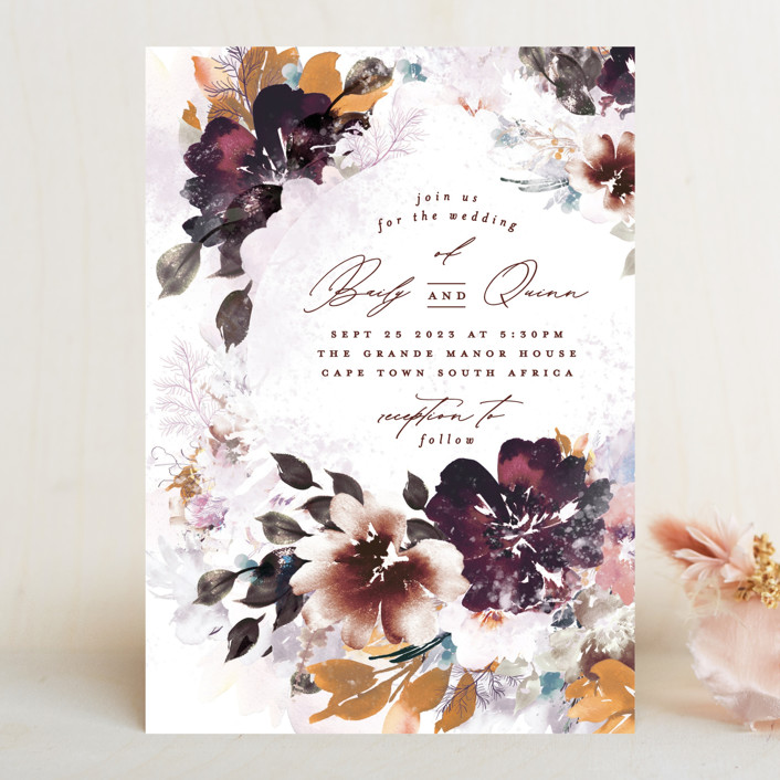 """Lush Bouquet"" - Wedding Invitations in Autumn by Phrosne Ras."