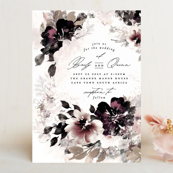 """Lush Bouquet"" - Wedding Invitations in Autumn by Phrosne Ras."
