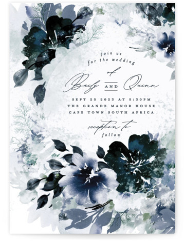 Lush Bouquet Wedding Invitations