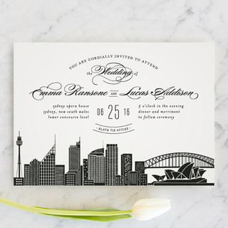 City Sydney Wedding Invitations