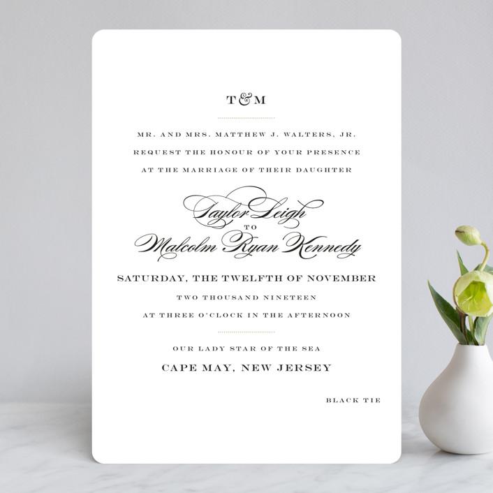 """""""Charming Go Lightly"""" - Wedding Invitations in Crisp Black by danielleb."""