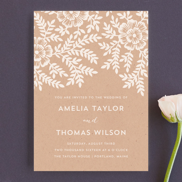 Kraft Wedding Invitations | Wedding Ideas