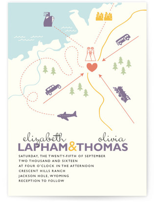 Two Brides Destination Wedding Invitations