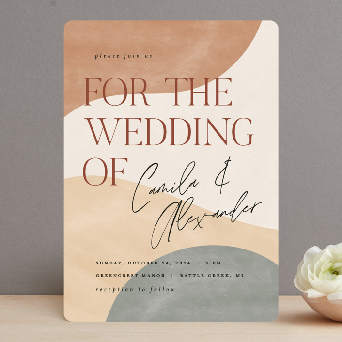"""""""Surface"""" - Modern Wedding Invitations in West by Pixel and Hank."""