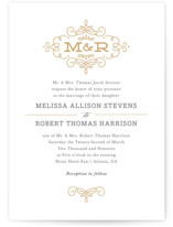 Ornate Monogram Wedding Invitations By Kristen Smith
