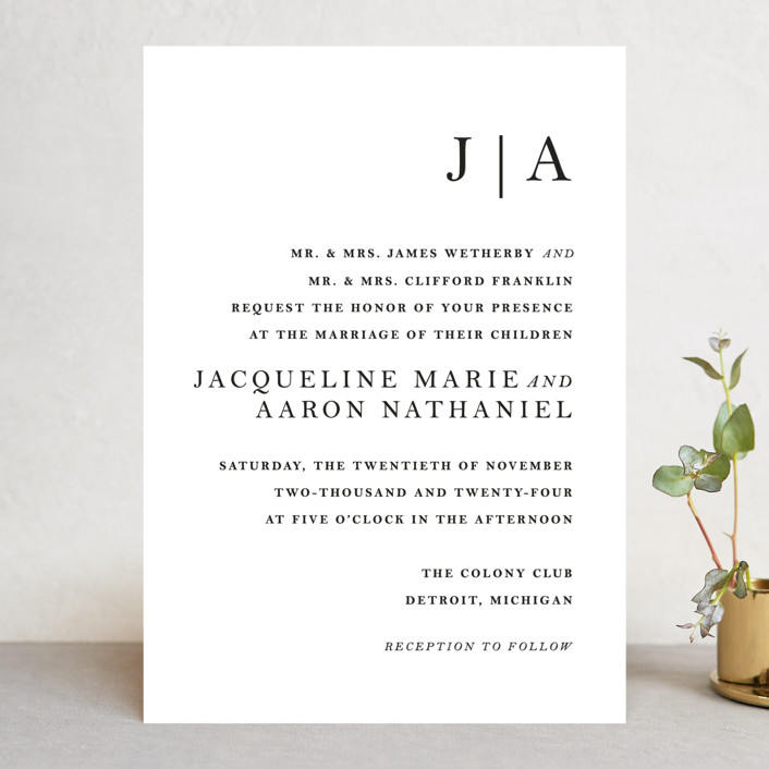 Sophistotype Wedding Invitations In Sea Salt By Snow And