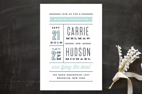 Posted Wedding Invitations