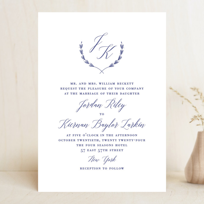 """United"" - Wedding Invitations in Cobalt by Susan Brown."
