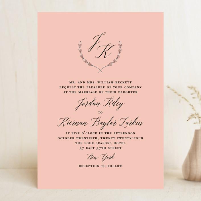 """United"" - Wedding Invitations in Cobalt by Susan Brown."