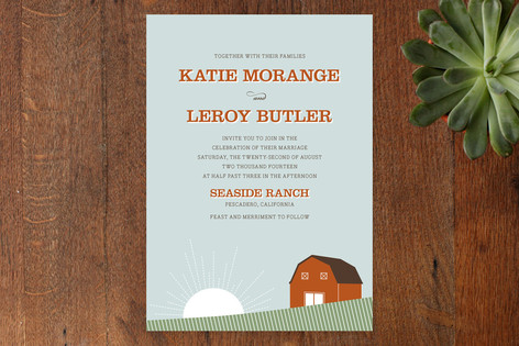 Barn Dance Wedding Invitations