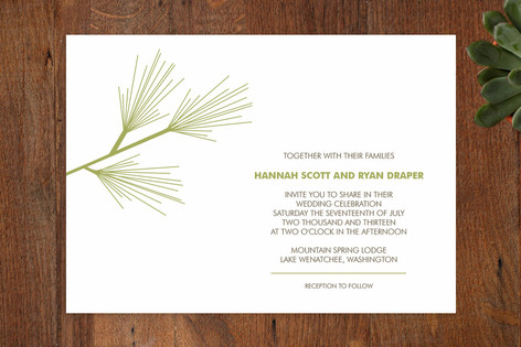 Pine Branch Wedding Invitations