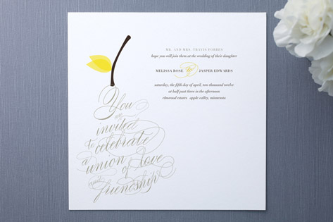 pear nouveau Wedding Invitations