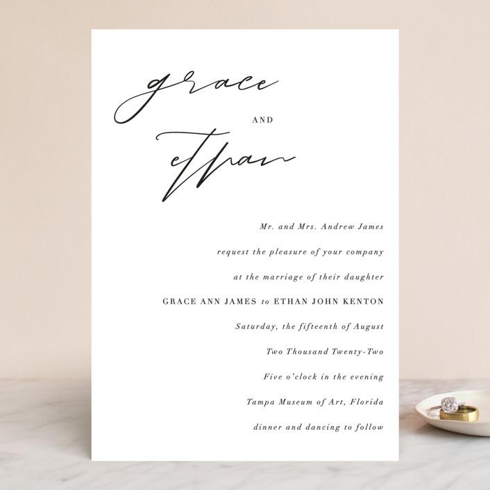 """first dance"" - Wedding Invitations in Champagne by Kasia Labocki."