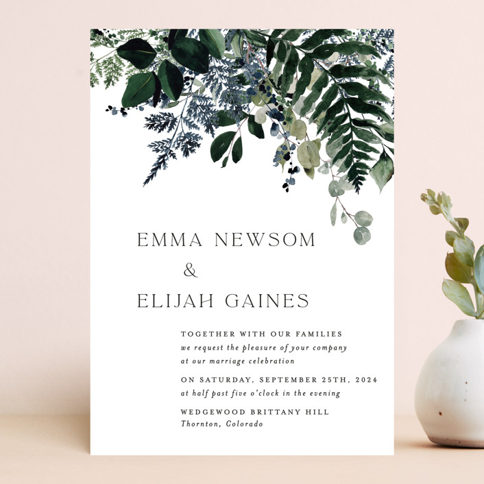 """""""On and On"""" - Wedding Invitations in Botanical Bouquet by Design Lotus."""
