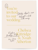 This is a pink wedding invitation by Annie Clark called Brooklynite with standard printing on signature in standard.