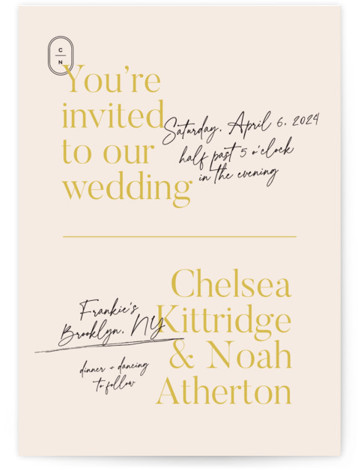 Brooklynite Wedding Invitations