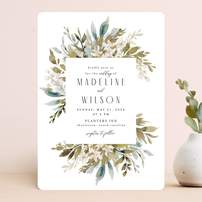 """""""Wedding Festive"""" - Wedding Invitations in Frost by Chris Griffith."""
