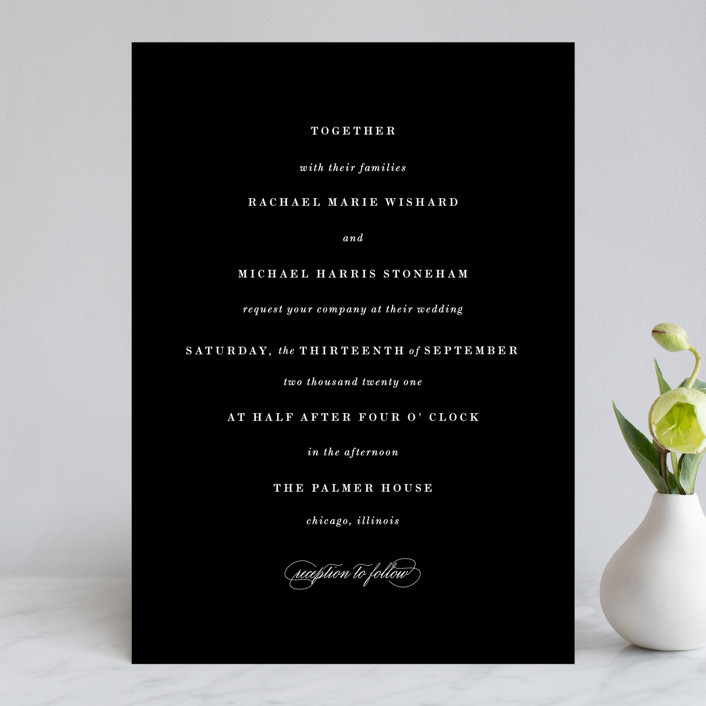 """""""Understated Elegance"""" - Wedding Invitations in Cotton by Kimberly FitzSimons."""