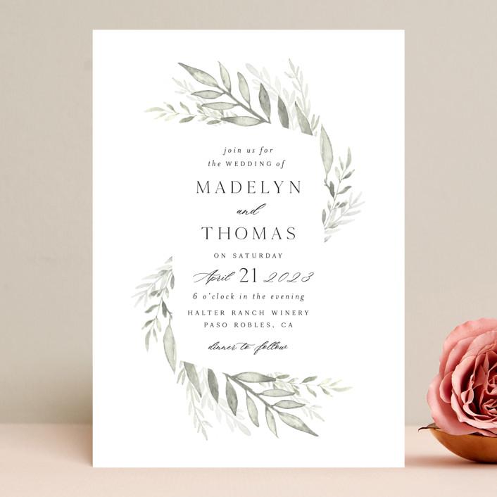 """Sweeping"" - Wedding Invitations in Linen by Carolyn Nicks."