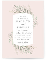 This is a pink wedding invitation by Carolyn Nicks called Sweeping with standard printing on signature in standard.