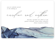This is a blue wedding invitation by Erin Deegan called Slate with standard printing on signature in standard.