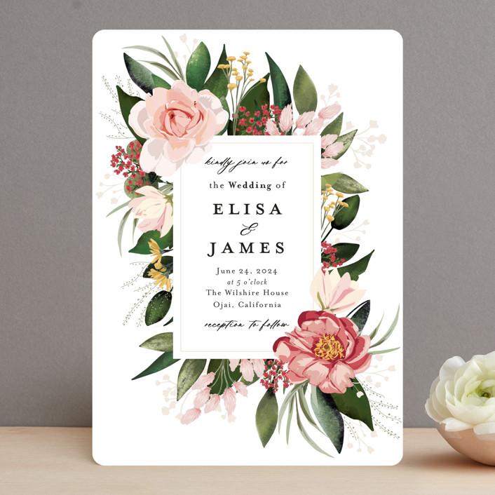 """Blossom"" - Wedding Invitations in Blush by Susan Moyal."