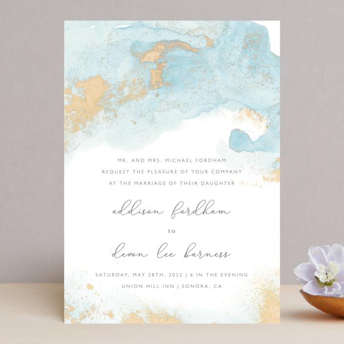 """My tenderness"" - Modern Wedding Invitations in Topaz by Helen Halik."