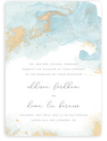 This is a blue wedding invitation by Helen Halik called My tenderness with standard printing on signature in standard.