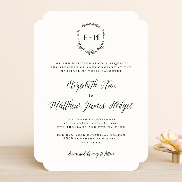"""Always"" - Rustic Wedding Invitations in Mint by Susan Brown."