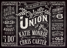 Slated Forever Wedding Invitations By GeekInk Design
