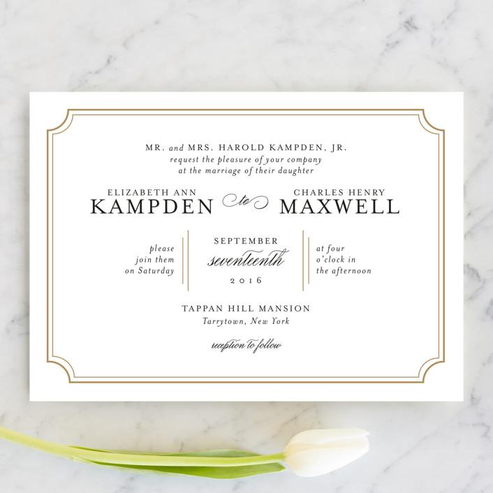 Classy Type Wedding Invitations by Kimberly FitzSimons | Minted