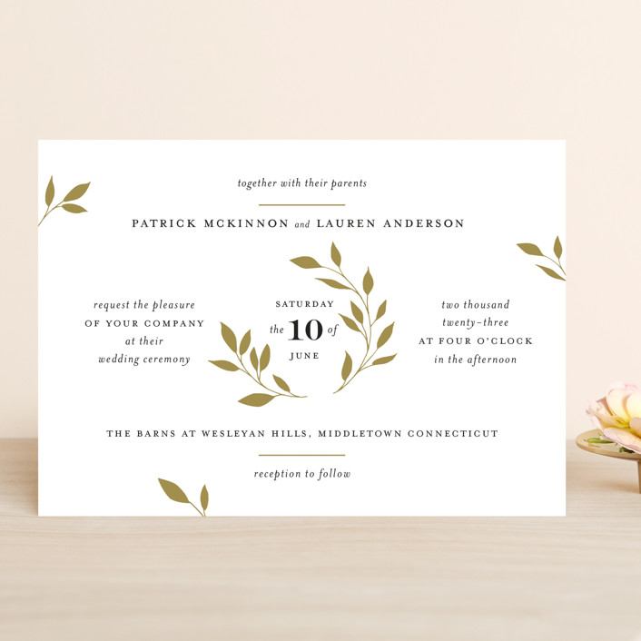 """Emblem"" - Wedding Invitations in Petal by Kimberly FitzSimons."