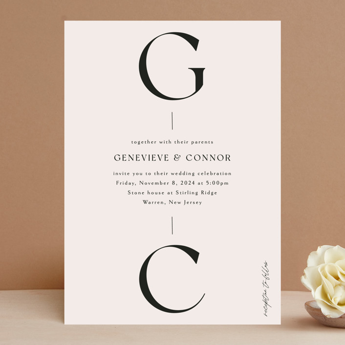 """""""Genevieve"""" - Wedding Invitations in Cream by Sandra Picco Design."""
