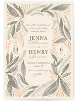 This is a beige wedding invitation by Jen Owens called Unity with standard printing on signature in standard.