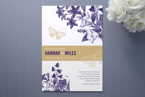 Summer Gardens Wedding Invitations