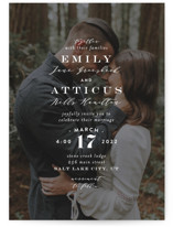 This is a white wedding invitation by Amy Payne called Picture Perfect with standard printing on signature in standard.