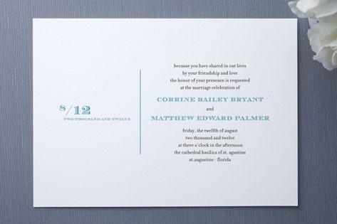 Simple Type Wedding Invitations