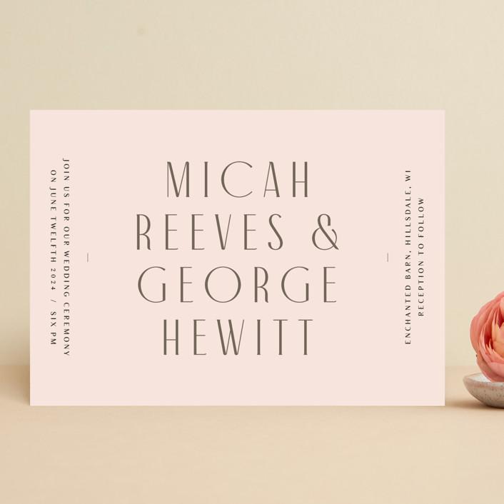 """Casablanca"" - Wedding Invitations in Blush by Lori Wemple."