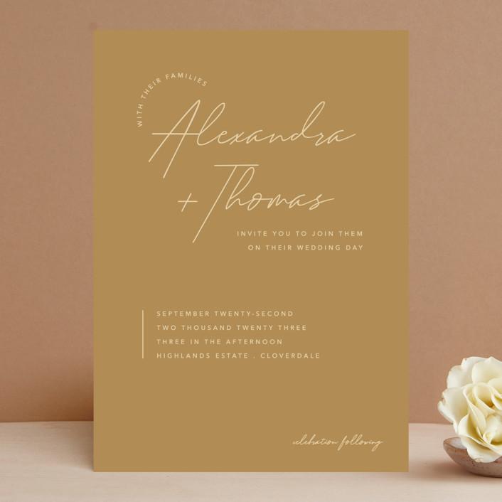 """Aesthetic"" - Wedding Invitations in Blush by Liz Conley."