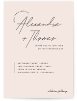 This is a pink wedding invitation by Liz Conley called Aesthetic with standard printing on signature in standard.