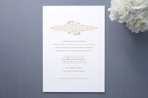 sweet amelia Wedding Invitations